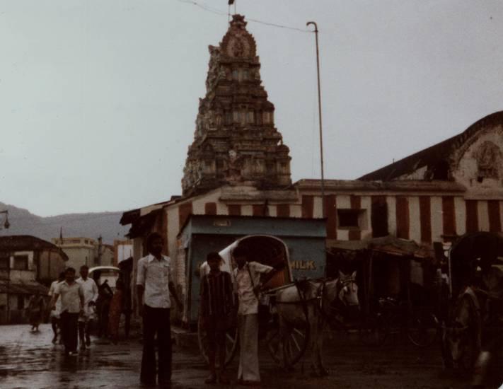 Hindu, indien, karren, Pferd, regen, Tempel, Tropen