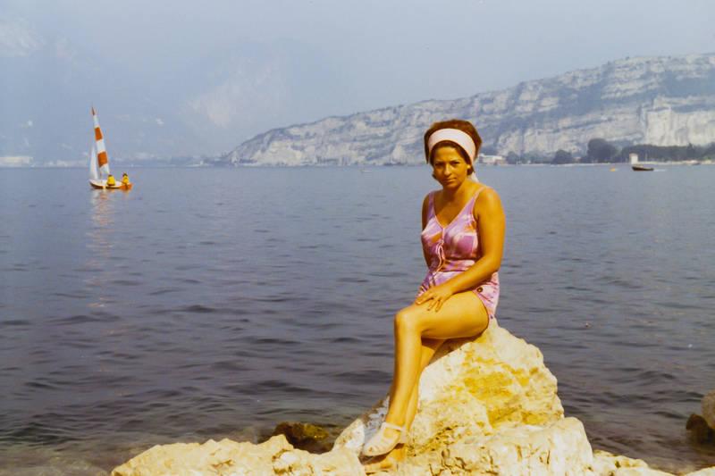 badeanzug, frisur, Gardasee, haarband, Italien, Riva del Garda, Sommerurlaub, Torbole