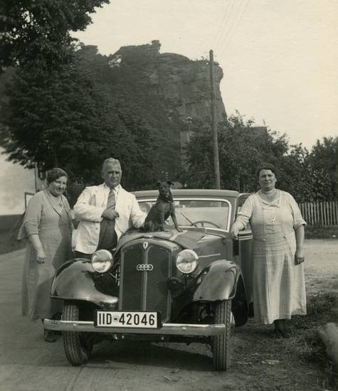 auto, dkw, essen, hund, kind, Rheinland-Pfalz