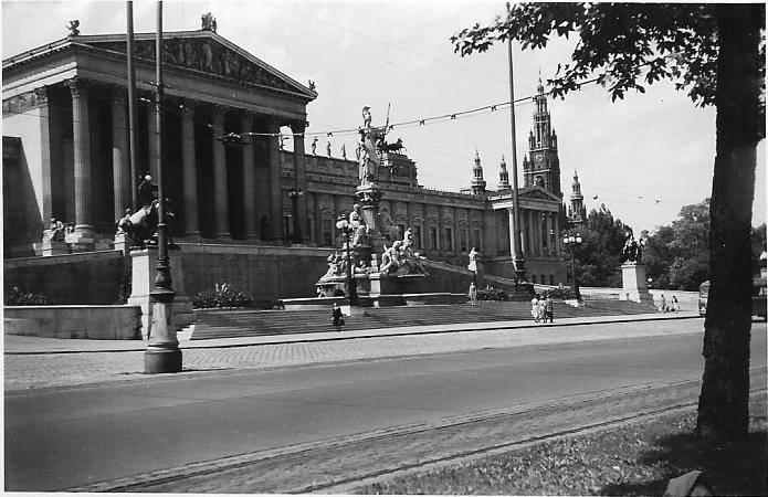 Österreich, pallas-athene-brunnen, Parlament, Parlamentsgebäude, Rathaus, Wien