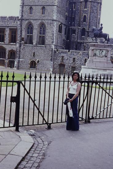 gebäude, GRoßbritannien, reise, Schloss Windsor, statue, tor, tourist, urlaub