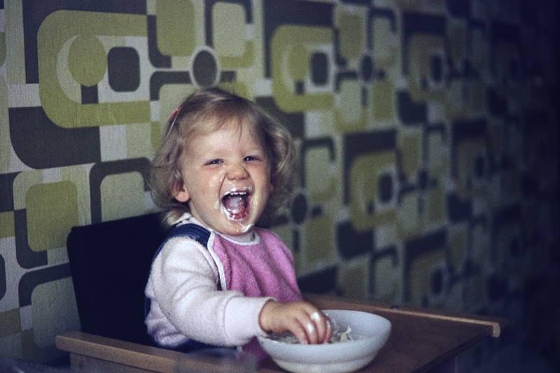 essen, Kindheit, schüssel, tapete