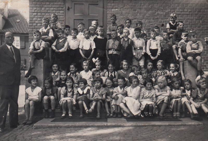 Kindheit, Klasse, Klassenfoto, lehrer, schule, Schulklasse