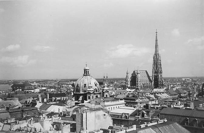 Dächer, skyline, St.Peter, Stephansdom, Wien