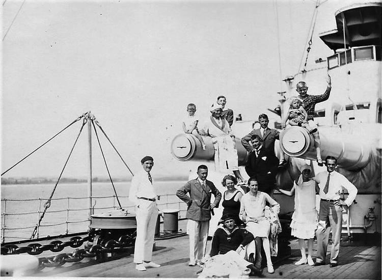 Besucher, gruppenfoto, Kaiserliche Marine, Marine, Reichsmarine, schiff, sms elsass