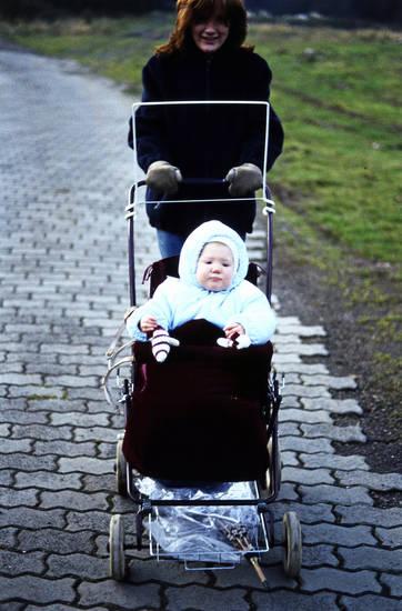 familie, kinderwagen, Kindheit, spaziergang