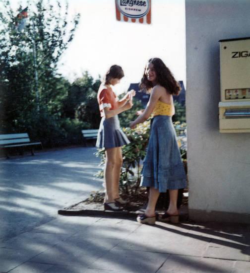 jugend, Langnese, mode, sandalen, Sommer, zigarettenautomat
