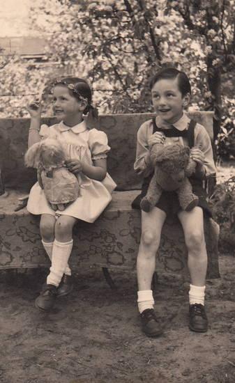 Geschwister, Kindheit, puppe, stofftier, Teddy