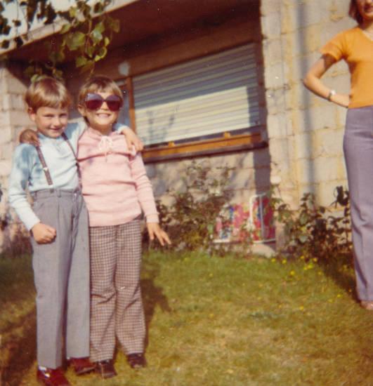 garten, hosenträger, kind, Kindheit, sonnenbrille