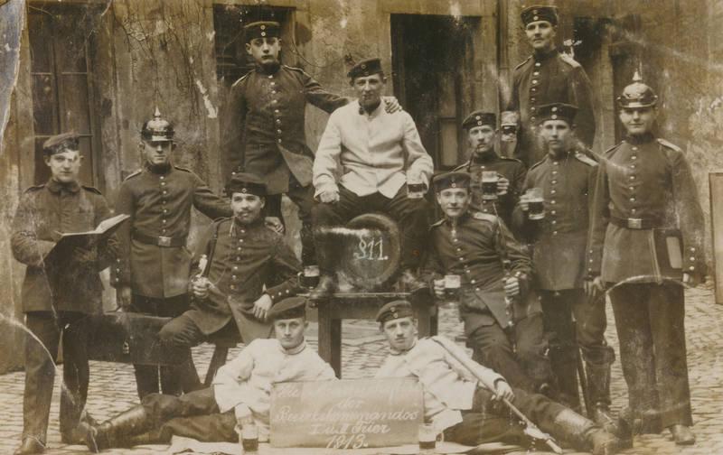 Bezirkskommando, Bierkrug, Hornkaserne, kaiserreich, Pickelhaube, soldat, Trier, Uniform
