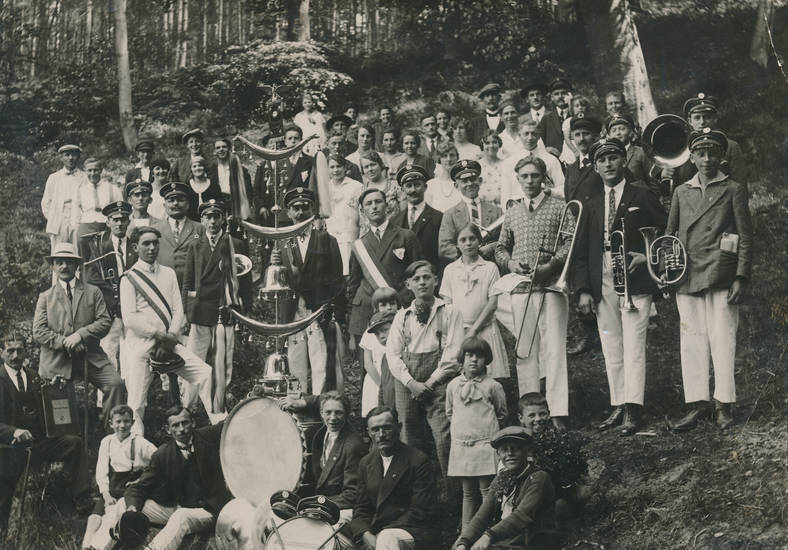 ausflug, biewer, Instument, musik, Musikverein, wald