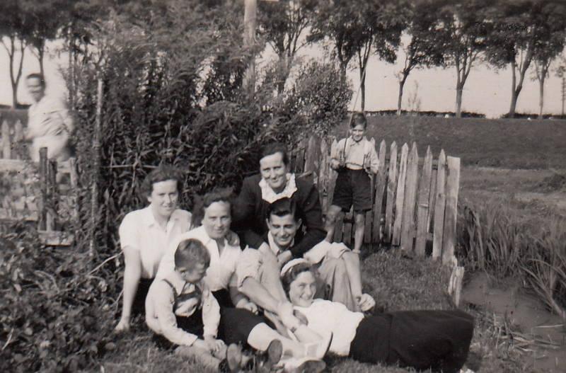 Ernte, familie, garten, johannisbeeren, johannisbeerstrauch