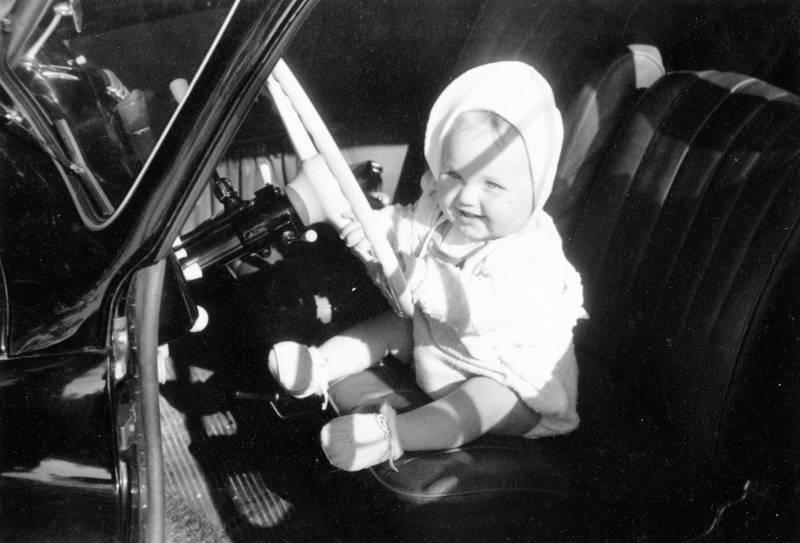 baby, fahrersitz, lächeln, lenkrad, säugling, sitzen, steuer
