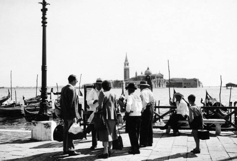 Gondel, Gondoliere, hut, kirche, Tasche, Ufer, Venedig
