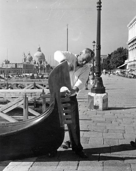 Gondel, Gondoliere, Hemd, Ufer, Venedig