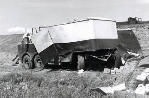 Unfall eines Lastwagens