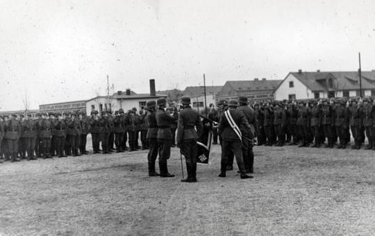 Versammlung von Soldaten