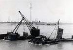Geräte für den Bau der Brücke