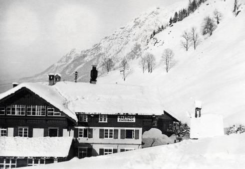 Gasthaus in den Bergen