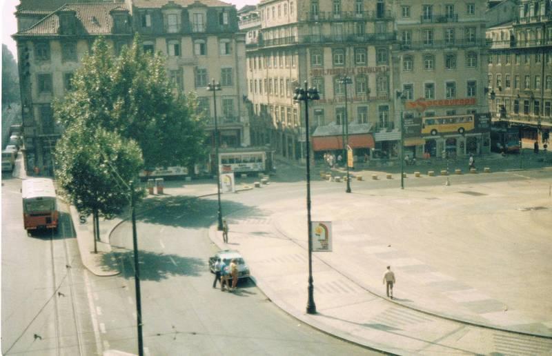 autos, Lissabon, Platz, Portugal, Straßenbahn