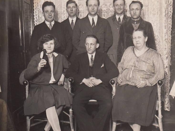 anzug, Bier, gruppenfoto, Krawatte