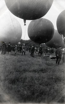 Ballons auf dem Feld
