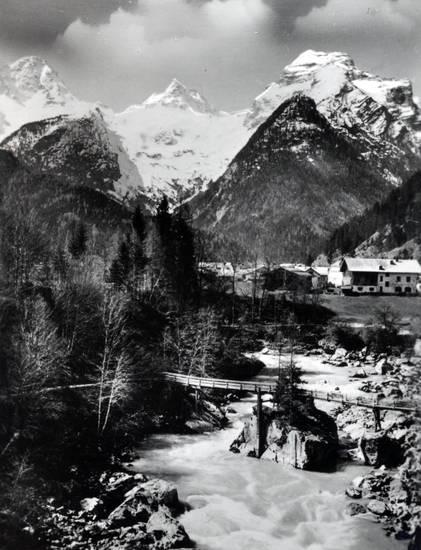 brücke, gebäude, haus, schnee, Teufelsbrücke, Teufelsweg