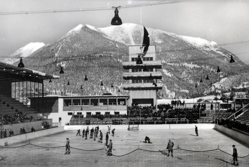 Eishockey, garmisch-partenkirchen, Olympia-Arena, Olympia-Skistadion, olympiastadion, schnee