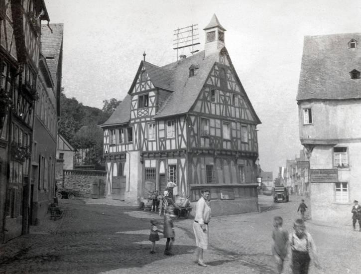 Altes Rathaus, fachwerk, Fachwerkhaus, gebäude, haus, Hotel Königstuhl, Kindheit, Rathaus, Rhens