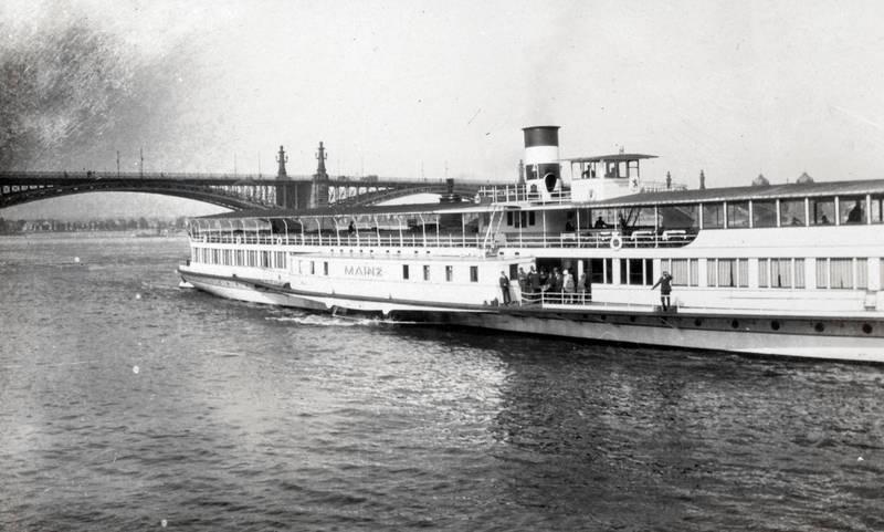 brücke, mainz, Rhein, Rheinbrücke, schiff, Theodor-Heuss-Brücke