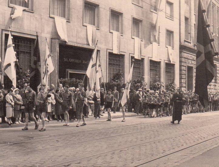 fahne, Fronleichnam, köln, pfadfinder, Prozession