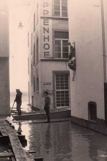 Altstadt, boot, Buttermarkt, Hochwasser, köln, Rhein