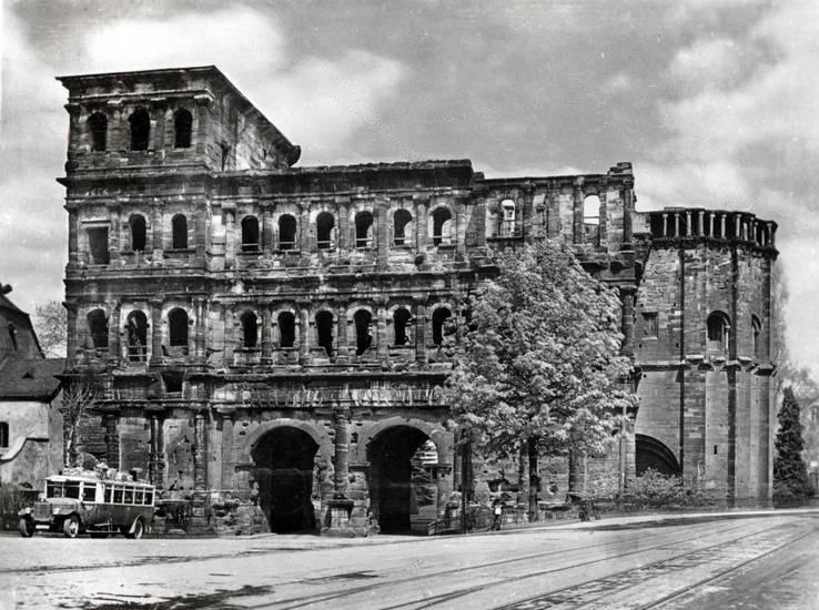 Porta Nigra, römisch, stadttor, straße, tor, Trier