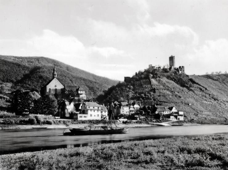 Beilstein, burg, Burg metternich, Mosel, schiff