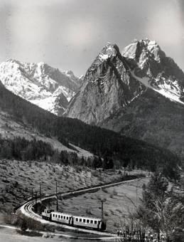 Fahrt vor der Zugspitze