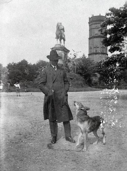 Duisburg, hund, hut, Kaiser-Wilhelm-Denkmal, Kaiserberg, Reiterdenkmal, turm, wasserturm