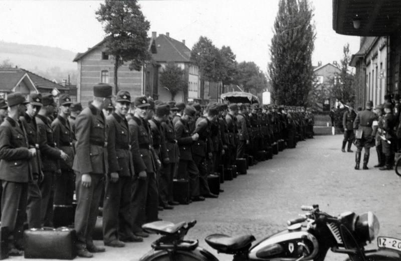 formation, Motorrad, rad, RAD-Mann, Reichsarbeitsdienst, Reihe, Uniform