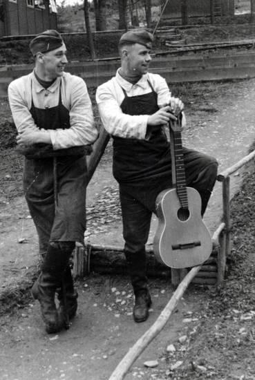 Gitarre, rad, Reichsarbeitsdienst, schürze, weg