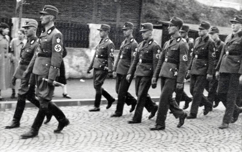hakenkreuz, rad, Reichsarbeitsdienst, straße, Uniform