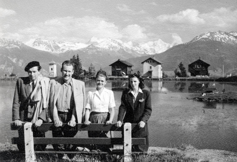 Bank, Bluse, haus, Lac Grenon, mütze, Parkbank, Schweiz, see, urlaub