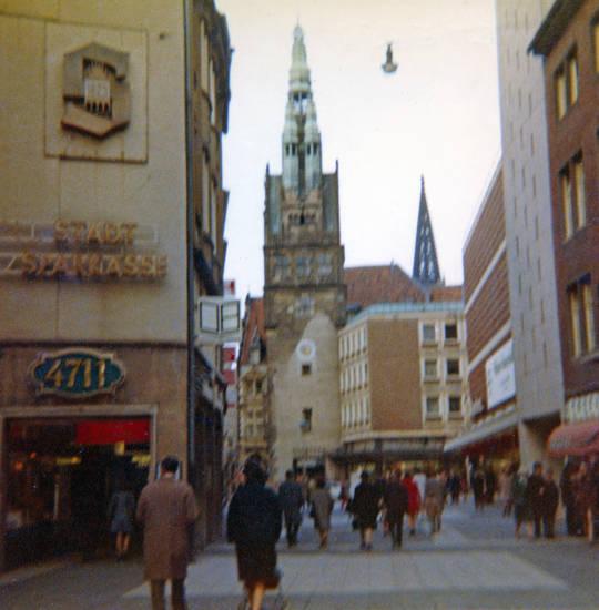 4711 Haus, innenstadt, mode, münster, passanten, Stadt Sparkasse
