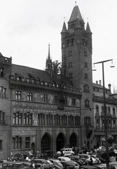 auto, basel, KFZ, PKW, Rathaus, turm
