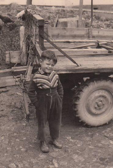 anhänger, Bauernhof, Hof, Kindheit, kleidung, Landwirtschaft