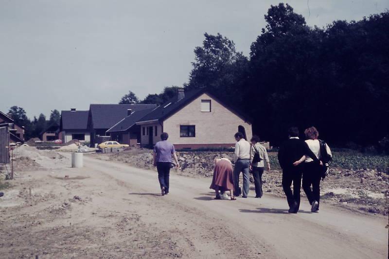 Baustelle, besichtigung, gruppe, neubau, Siedlung