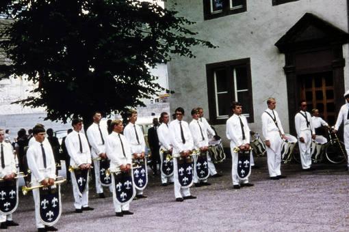 Musiker beim Volksfest