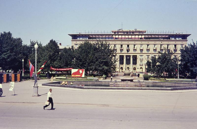 gebäude, haus, lenin, plakat, Platz, Taschkent
