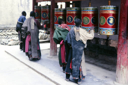Bei den Gebetsmühlen