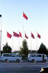 Flaggen in Peking