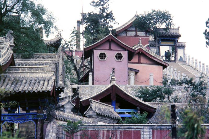 Buddhismus, Religion, Tempel, Tempel der klaren Quelle, Tianshui, Treppe