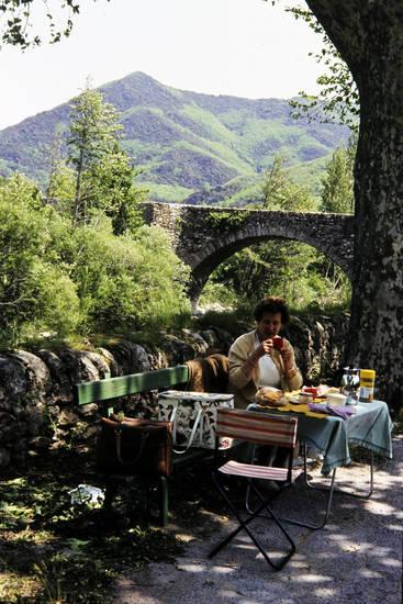 essen, frühstück, Saint-Gervais-les-Bains, tisch